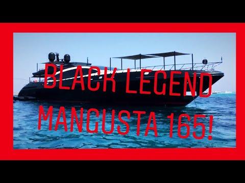 Mega Yacht BLACK LEGEND by Mangusta visit Ibiza & Formentera