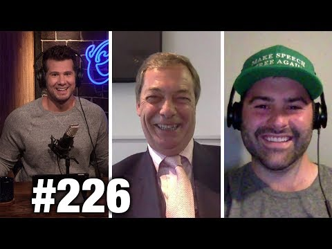 #226 POLITIFACT SCAM EXPOSED! Nigel Farage and Andrew Torba | Louder With Crowder