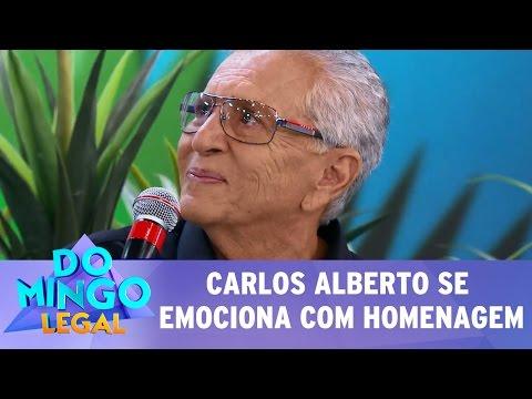 Domingo Legal (05/03/17) - Carlos Alberto se emociona com homenagem