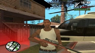 GTA san andreas - Taking Police maverick helicopter from beginning