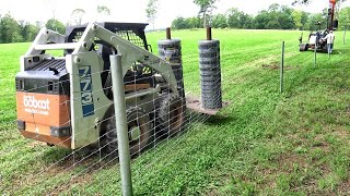 You've never seen farm fencing like this!  Day 1 Farm Fencing Project!