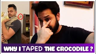 Why I Taped The Crocodile ? Ft Moby Manimal | Azlan Shah