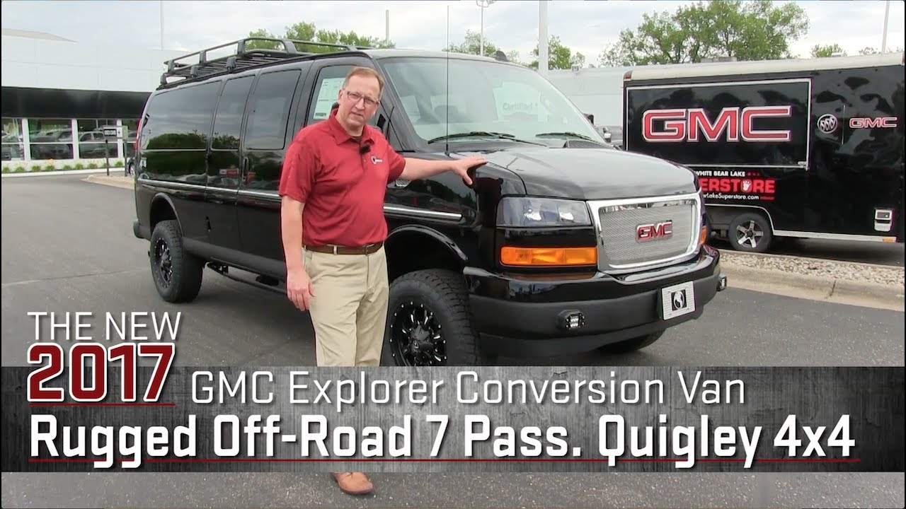 Custom Off Road Lifted Quigley 4x4 Explorer Conversion Van GMC Savana