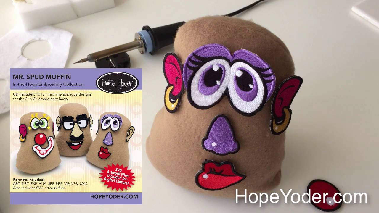Mr  Spud Muffin Embroidery CD with SVG Files - Sew Creative