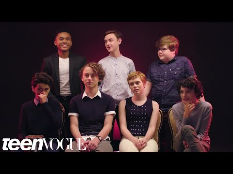"The Cast of ""It"" Rates Everyday Scary Things  Teen Vogue"