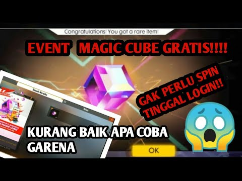 WOW!!!! GARENA BERCANDA!!! EVENT MAGIC CUBE GRATIS FF!!!