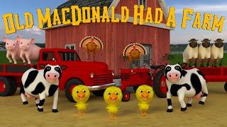 Old Macdonald Had A Farm   Fun Nursery Rhyme   Kids Learning TV
