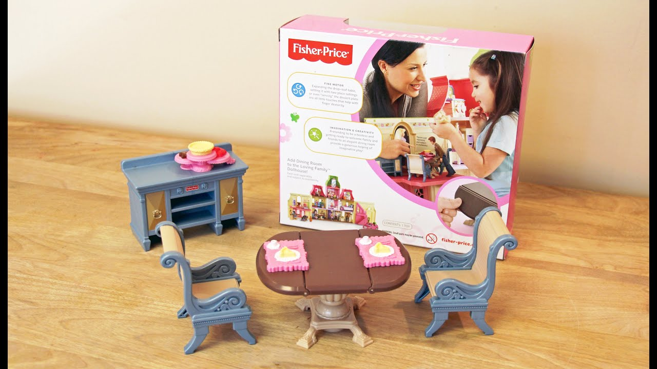 Fisher Price Loving Family Dining Room Doll Furniture 💜