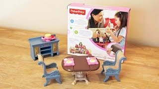 Fisher-price Loving Family Dining Room Doll Furniture