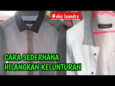 Cara menghilangkan noda luntur di baju putih - YouTube