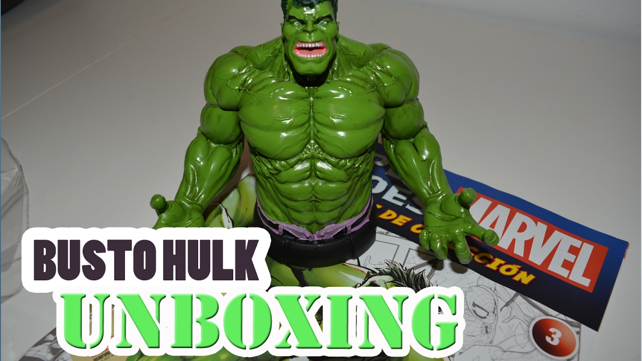 Unboxing col bustos marvel n 3 hulk youtube for Coleccion bustos marvel