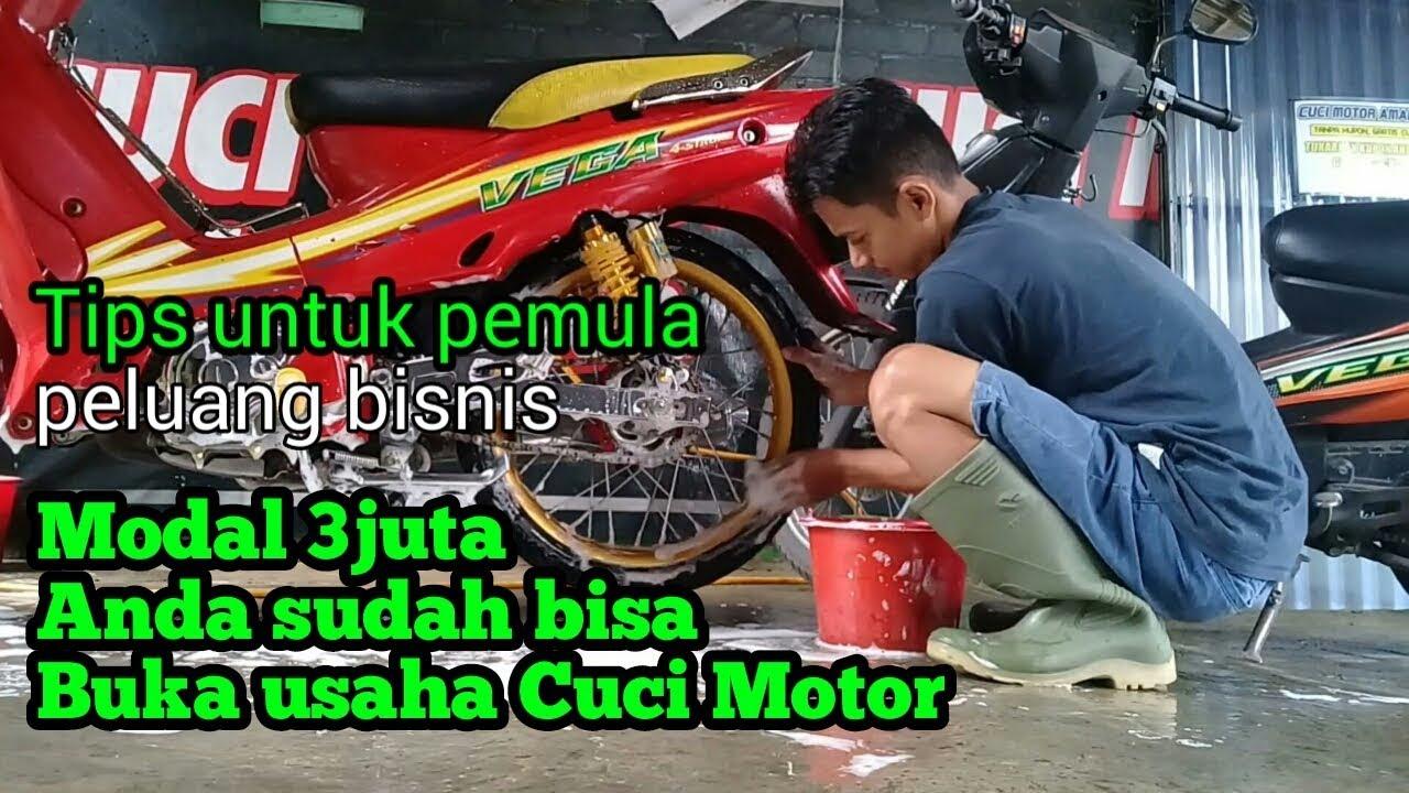 BUKA USAHA CUCI MOTOR MODAL 3JUTA & Tips usaha cuci motor ...