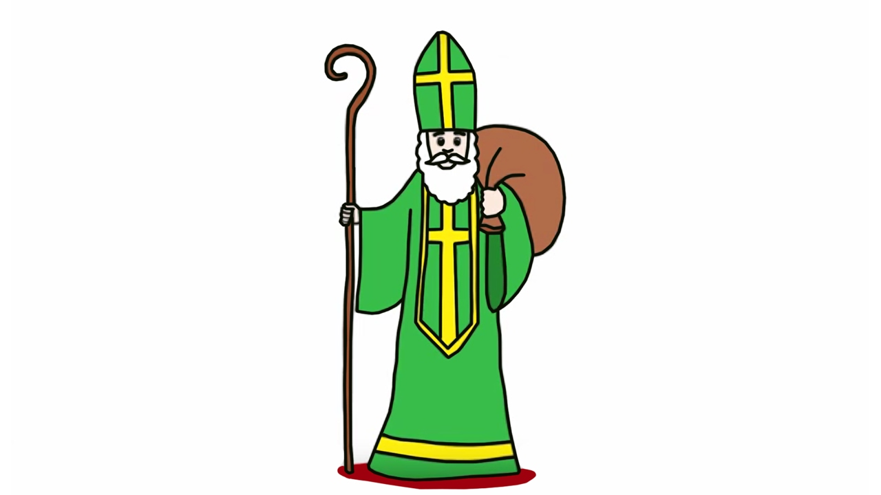 Apprendre dessiner saint nicolas youtube - Saint nicolas dessin couleur ...