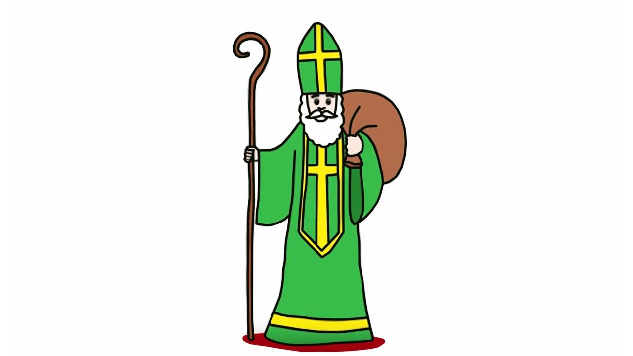 Apprendre A Dessiner Saint Nicolas Youtube