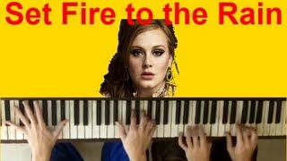 Adele - Set Fire to the Rain (Piano Cover Duet)  by The Master Twins