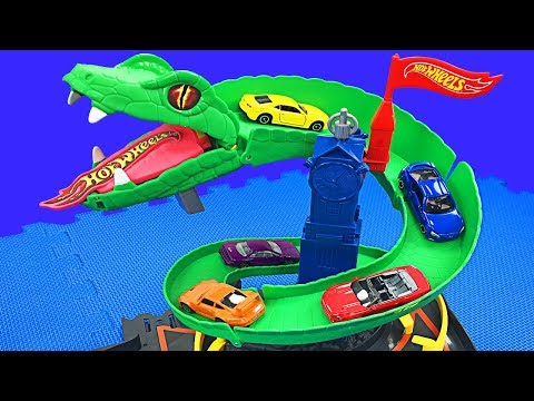 Hot Wheels Cobra Crush Play Set Teaching Colors & Numbers for Kids Toys Cars for Children & Toddlers