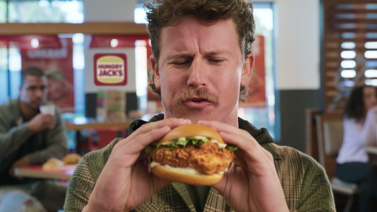 Hungry Jack's   NEW Jack's Fried Chicken Burgers   Choose from Classic, Spicy or Cheesy Bacon