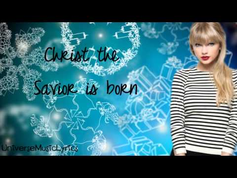 Silent Night- Taylor Swift (Lyrics Video) HD