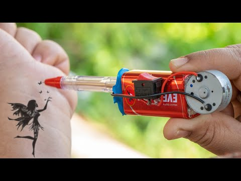 How To Make a Simple Permanent Tattoo Machine at Home