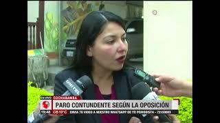La oposición asegura que el paro cívico en Cochabamba fue contundente