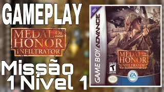 Medal Of Honor Infiltrator (GBA) GAMEPLAY (COMENTADO) EP:1
