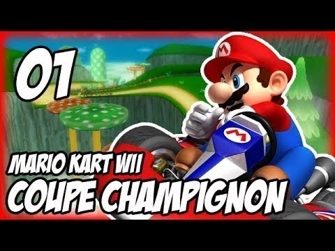 Let 39 s play mario kart wii coupe champignon fr youtube for Coupe miroir mario kart wii