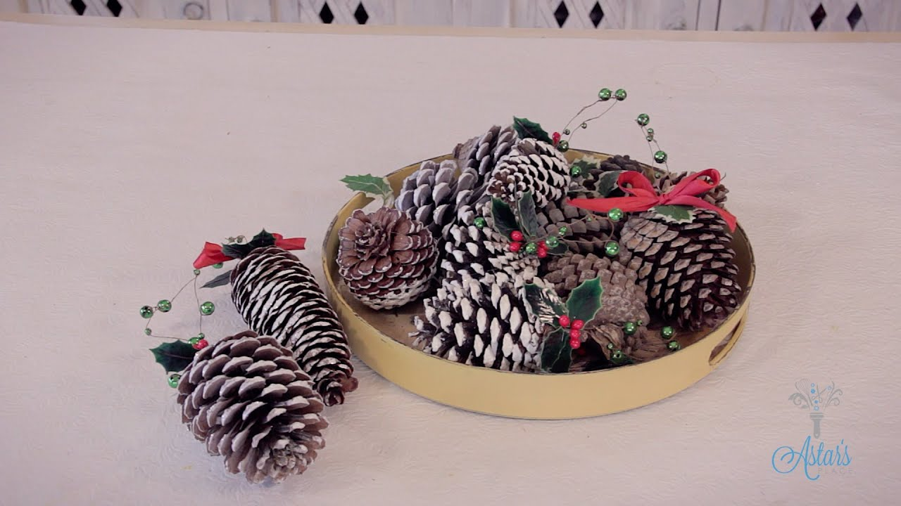 Arts and Crafts Tutorial How to make Pinecone Christmas Tree