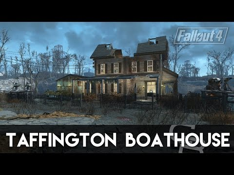 Fallout 4 - Taffington Boathouse! (Awesome Cozy Settlement)