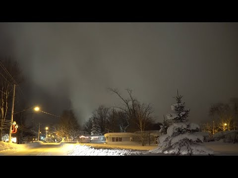 Rare Lake Effect Snow Video Showing Edge Of the Snow Band Oswego County, NY - 12/26/2017