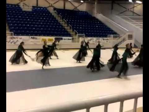 Sapulpa High School Varsity Winter Guard 3