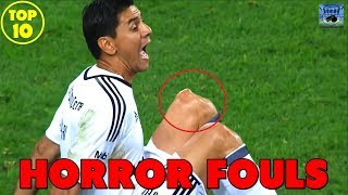 Horror Fußball Fouls & Tacklings 2018 | TOP 10