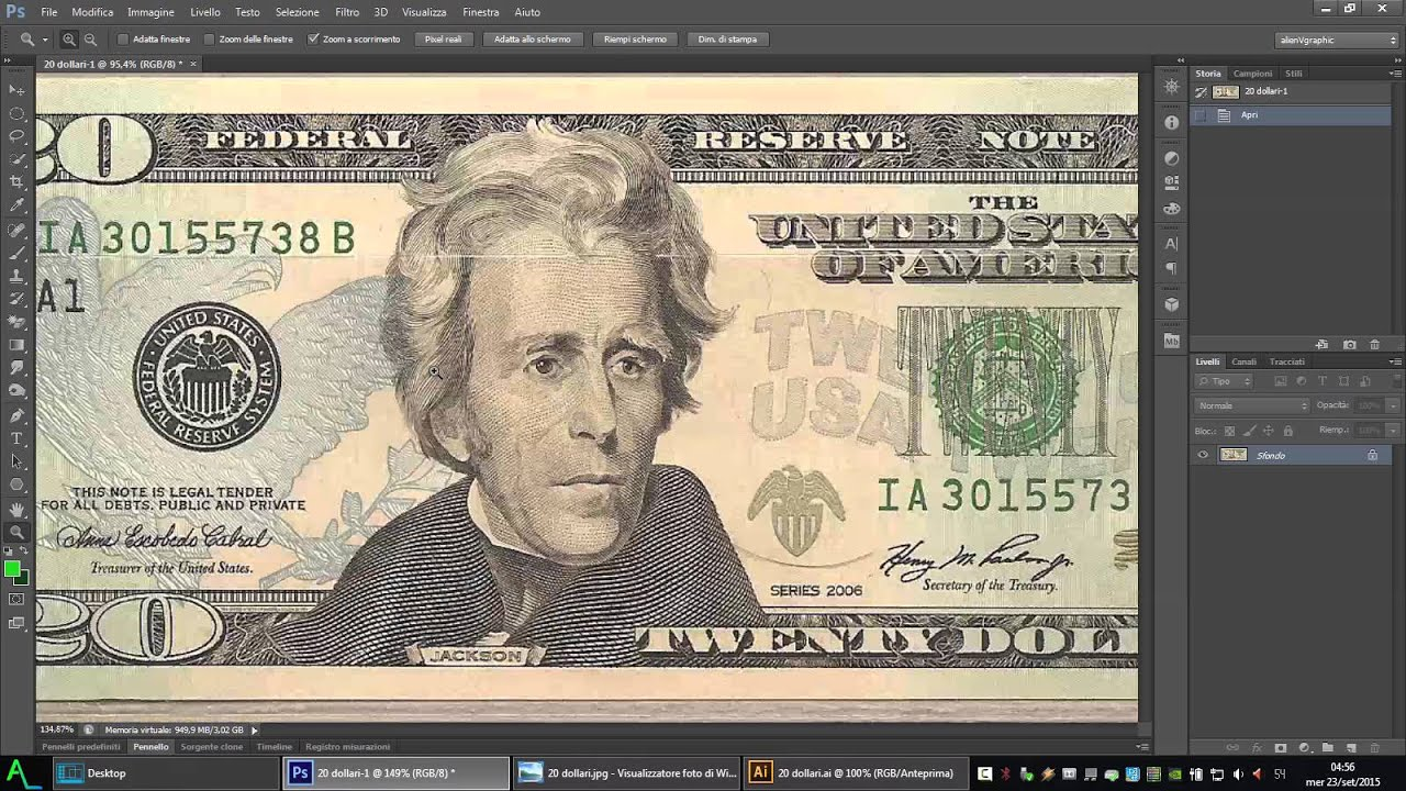 Edit bills on photoshop 8 0+