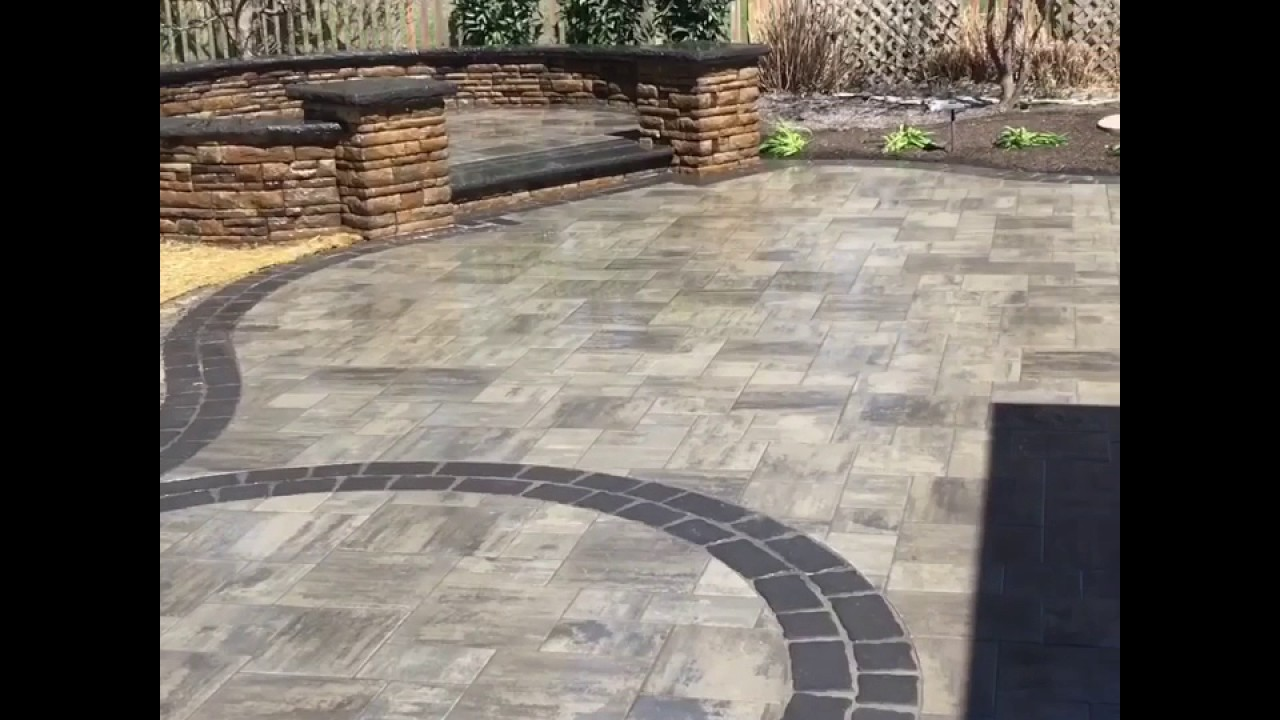 Finest EP Henry Bristol Stone Patio with raised seat area - YouTube EX63