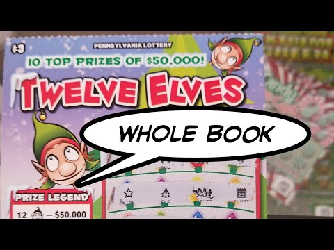 WHOLE BOOK REVEAL.  $3 Christmas Pa LOTTERY SCRATCH TICKETS