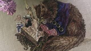 Кот Каллиграф NIMUE. Вышивка крестиком.