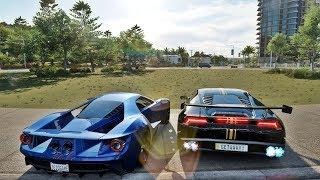 Forza Horizon 3 Online - MINHA CASA PEGOU FOGO? Lamborghini Huracan VS Fort GT