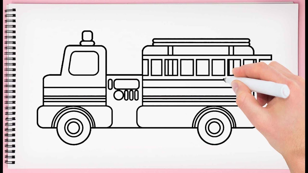 how to draw fire truck easy learn drawing fire truck very simple and