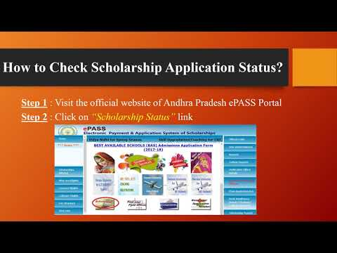 apepass cgg gov in : AP ePass Scholarship Application Status