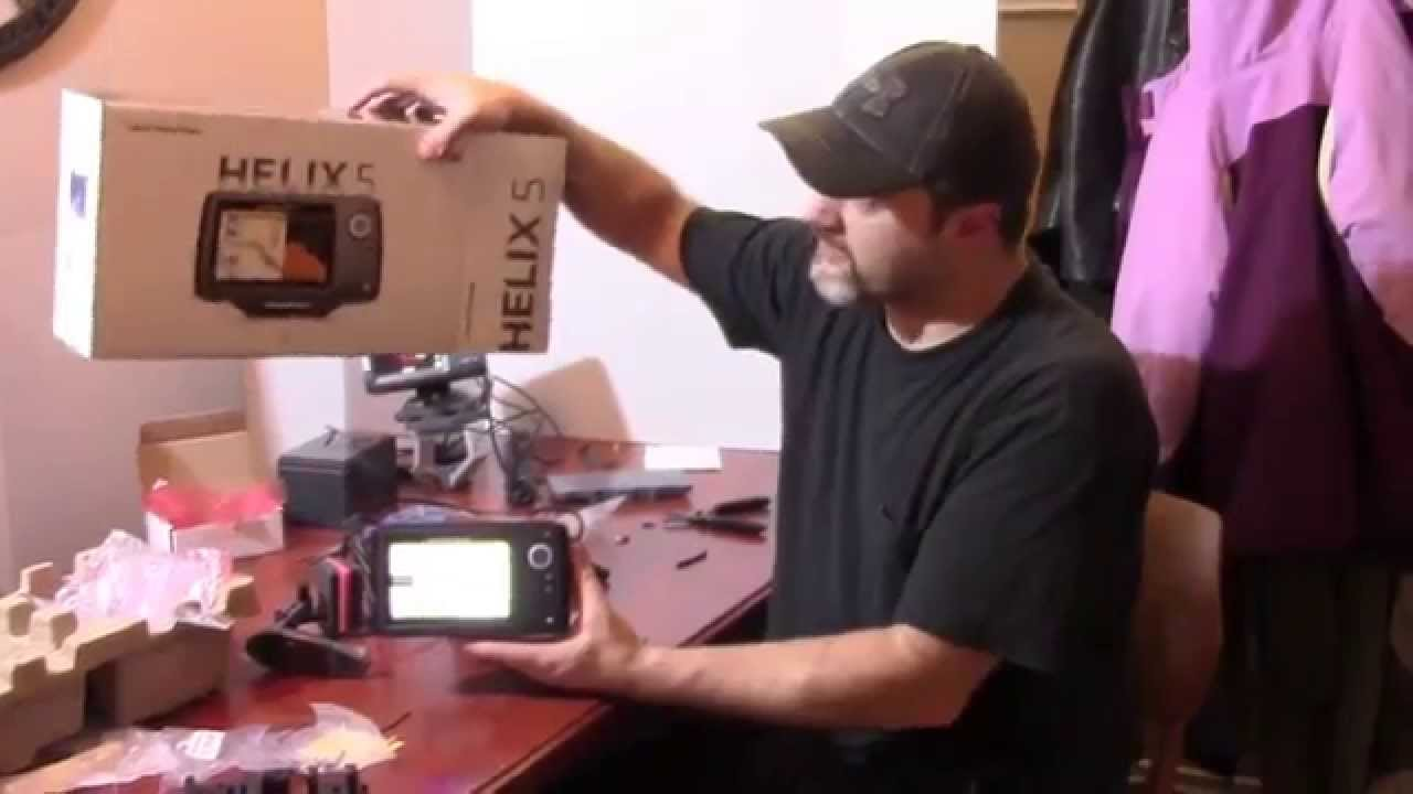 humminbird helix 5 unboxing and power up - youtube, Fish Finder