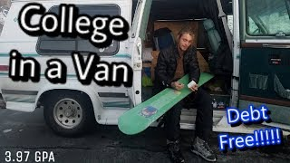 Life of a College Student Living in a Van + Q&A at the end