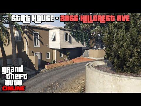 GTA 5 Online PS4 - Stilt House 2866 Hillcrest Ave Tour