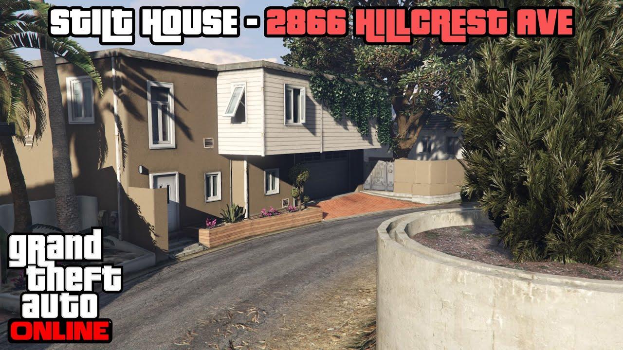 Gta 5 Online Ps4 Stilt House 2866 Hillcrest Ave Tour Youtube