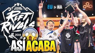 ASÍ ACABA el RIFT RIVALS 2018 *EU vs NA* | FNC vs FOX | Rift Rivals Highlights Español