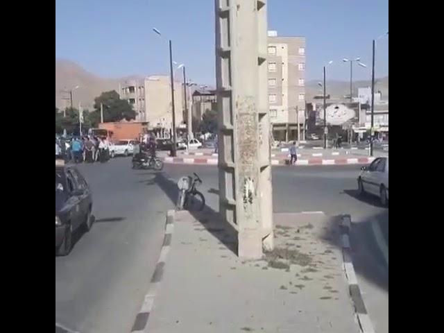 Iran, Manifestation de la population de Mahabad, contre les coupures du courant électrique