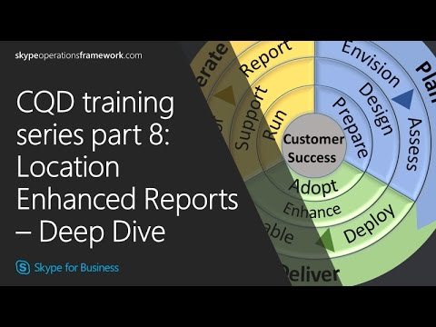 CQD training Series part 8: Location Enhanced Reports – Deep Dive