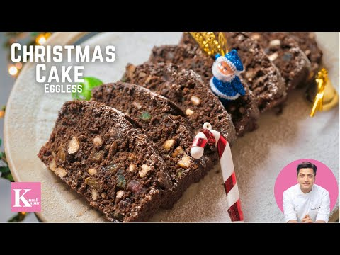 EGGLESS CHRISTMAS PLUM CAKE CAKE RECIPE WITHOUT OVEN SPECIAL FRUIT NUTS PLUM CAKE NO ALCOHOL