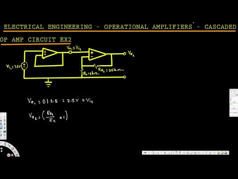 Electrical Engineering: Operational Amp - Cascaded Op-Amp Circuit: Example 2
