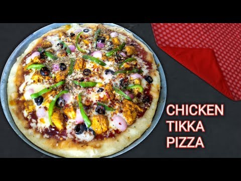 Tawa Pizza | Chicken Tikka Pizza Without Oven | Quick and Easy Pizza Recipe