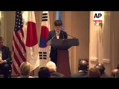 US Secretary of State John Kerry holds bilats with Japanese and Korean FMs