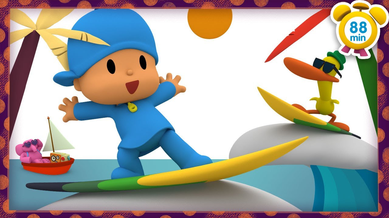 🏖  POCOYO in ENGLISH - Beach Holidays [ 88 minutes ] | Full Episodes | VIDEOS and CARTOONS for KIDS